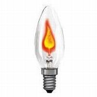 Flakkerkaarslamp flam E14 3W.