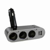 Auto 12/24Vdc 3-weg verdeler + USB lc.