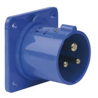 CEE 3 pins inbouw socket/male