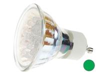Led lamp GU10 groen 15-led's