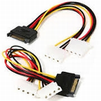 Interne verloop S-ATA<>2 x Molex