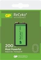 9V blokbatterij GP 200mah 8,4V.