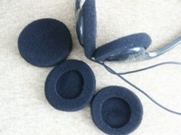 Earpads groot zwart 50mm