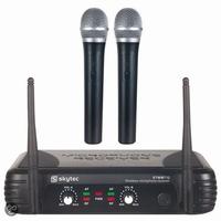Dubbele draadlose microfoon's VHF