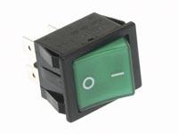 Netschakelaar inbouw groen/neon