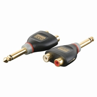 2 x RCA Female <> 6,3mm Stereo prof.
