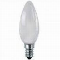 Kaarslamp E14 15W matt vc.