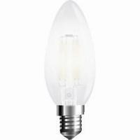 LED filament kaars E14 warm wit 4W mat