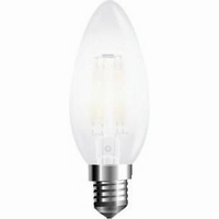 LED filament kaars E14 warm wit 4W mat dimbaar