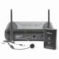 Draadlose headset microfoon VHF