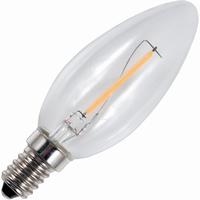 LED filament kaars E14 1,3W warm-wit