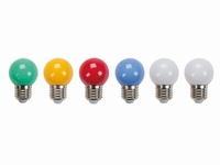 Gekleurde LED lampen E27 10x
