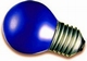 Kogellamp E27 blauw 15W.