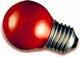 Kogellamp E27 rood 15W.