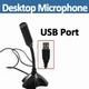 USB Desktop-Microfoon zwart