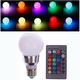 RGB+WW Led lamp + afstand bed. E27 10W.