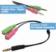3,5mm splitter kabel headset