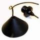 Snoerpendel 80cm. zwart