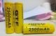 Oplaadbare Li-Ion batt. 14500 (AA) 2 x