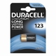 CR123A Litium batt. 3V. Duracell