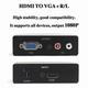 HDMI <> VGA Converter + audio Pro.