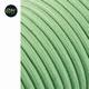 Stof omsponnen snoer licht groen 5mtr.