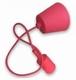 Snoerpendel E27 100cm. rood